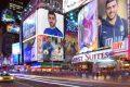 GRAZIANO NEI CARTELLONI PUBBLICITARI DI NEW YORK