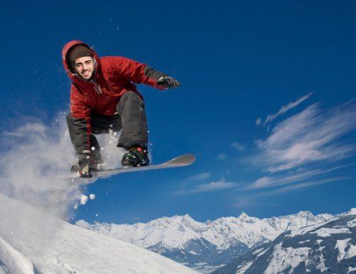 GRAZIANO COME PER MAGIA FA SNOWBOARDER