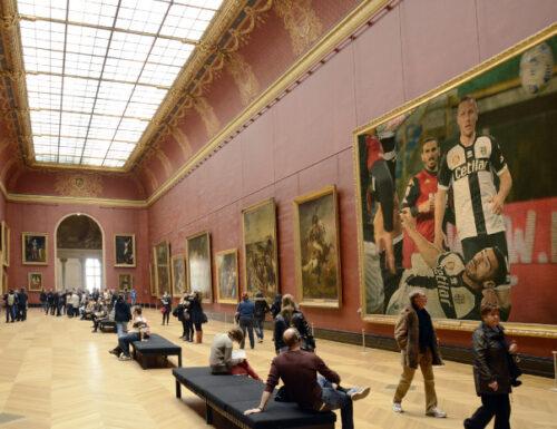 GRAZIANO E IL MUSEO DEL LOUVRE CHE CELEBRA IL SUPER EUROGOAL IN ROVESCIATA………SEGNALE PER MANCINI